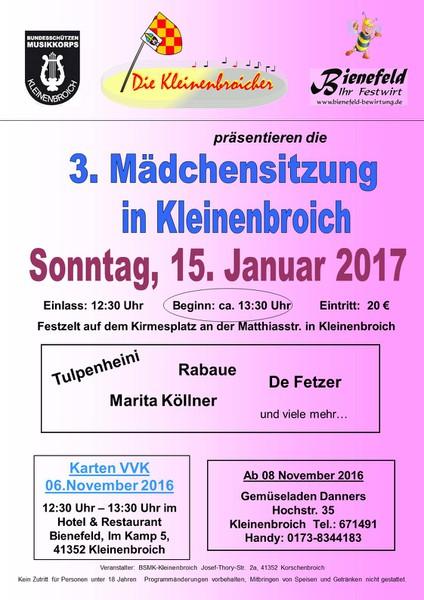 3. Mädchensitzung - 15.01.2017