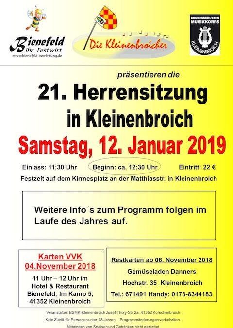 21. Herrensitzung am 12. Januar 2019