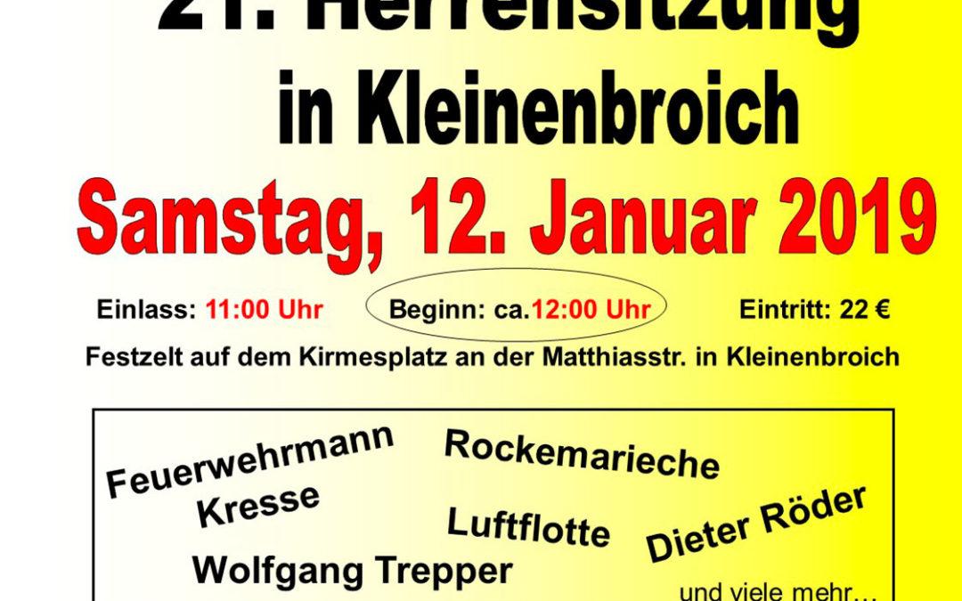 21. Herrensitzung am 12. Januar 2019 (Ausverkauft)